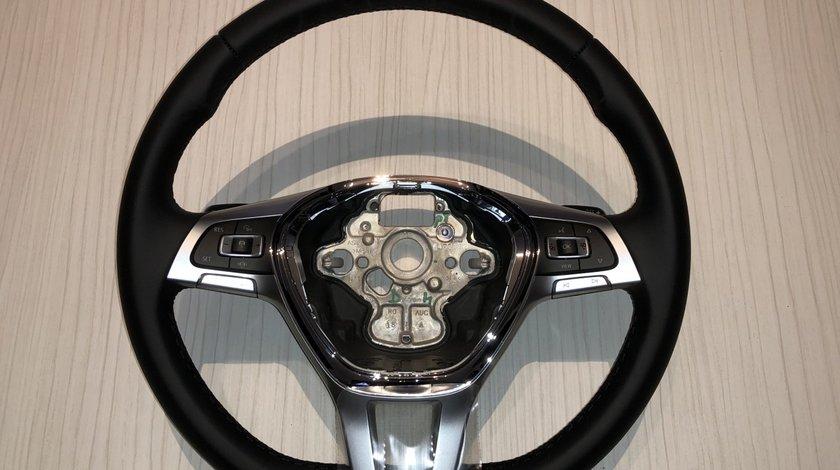 Vând volan piele/comenzi/padele VW Touareg Golf 7 Passat B8 Tiguan