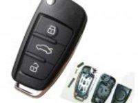 Vand carcasa cheie briceag Audi cu 3 butoane
