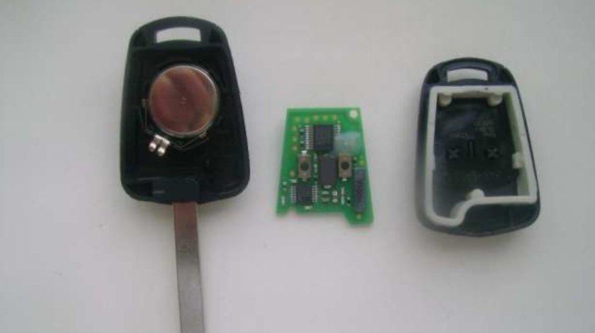 Vand cheie cu cip blank, pt. Opel Astra H / Zafira B, 2 butoane inchidere