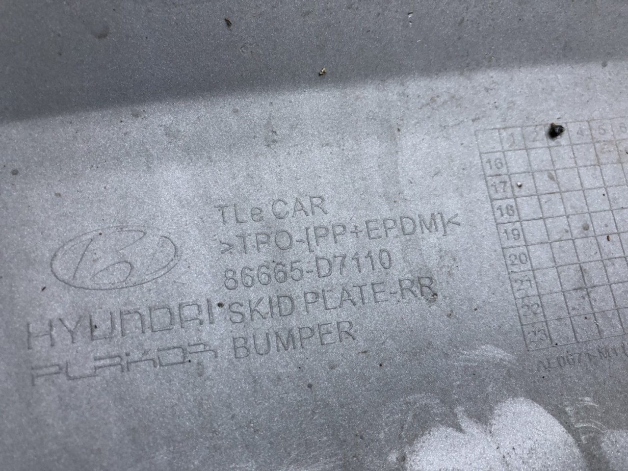 Vand ornament/difuzor bara spate Hyundai Tucson 2017