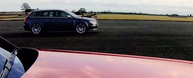 Vechiul RS4 B7 a pierdut liniuta. Masina cu motor diesel a castigat la mustata