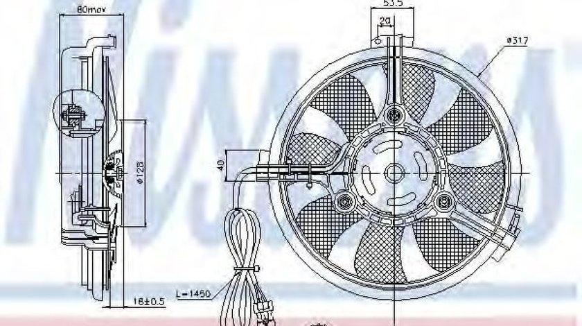 Ventilator,aer conditionat AUDI A6 (4B2, C5) (1997 - 2005) NISSENS 85519 piesa NOUA