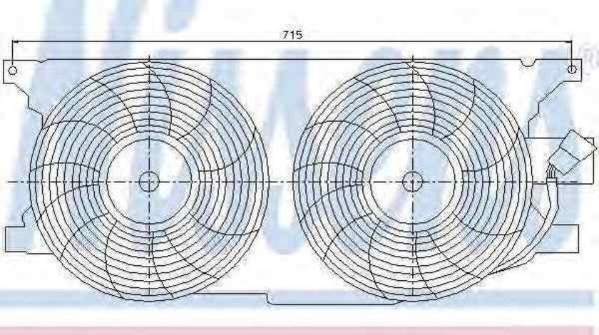 ventilator,aer conditionat MERCEDES-BENZ M-CLASS (W163) NISSENS 85402