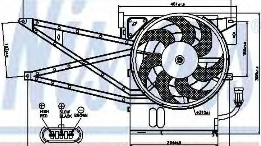 Ventilator,aer conditionat OPEL VECTRA B Hatchback (38) (1995 - 2003) NISSENS 85017 produs NOU