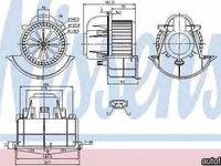 Ventilator aeroterma interior habitaclu AUDI Q7 (4L) NISSENS 87139