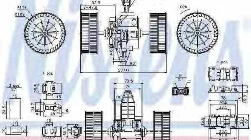 Ventilator aeroterma interior habitaclu BMW 5 (E60) NISSENS 87117