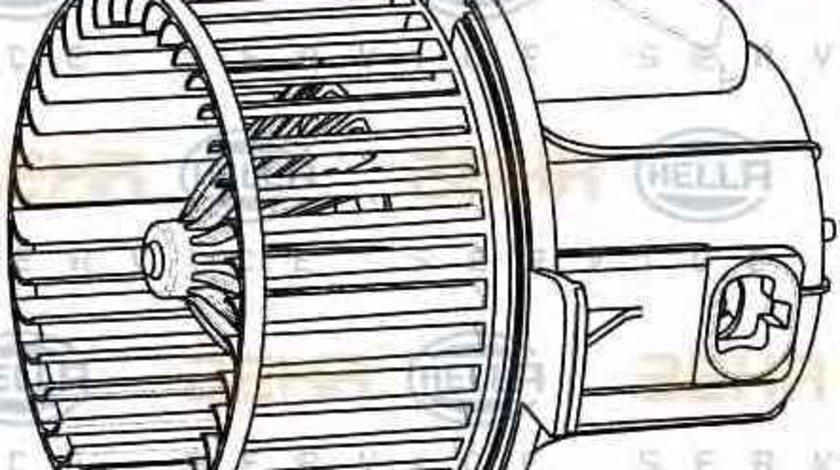Ventilator aeroterma interior habitaclu CITROËN C4 cupe LA HELLA 8EW 009 157-541