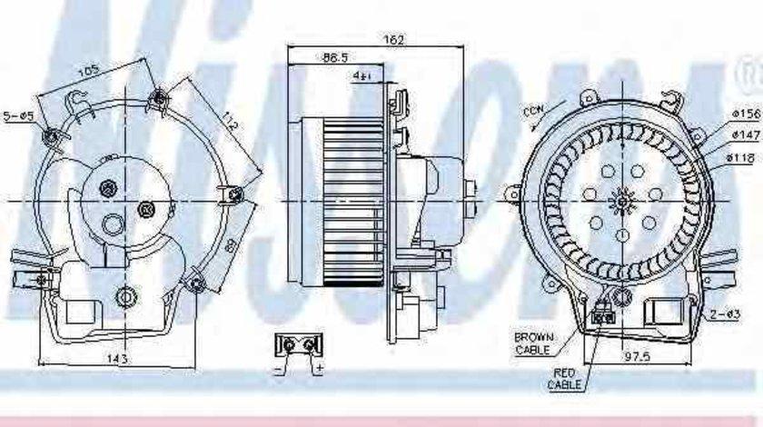 Ventilator aeroterma interior habitaclu MERCEDES-BENZ C-CLASS W203 Producator NISSENS 87111