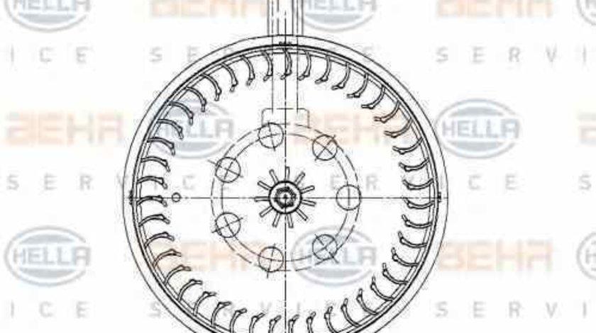 Ventilator aeroterma interior habitaclu MERCEDES-BENZ CLK C209 HELLA 8EW 009 159-591