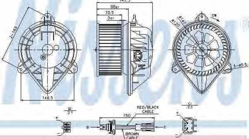 Ventilator aeroterma interior habitaclu RENAULT MASTER II bus JD NISSENS 87024
