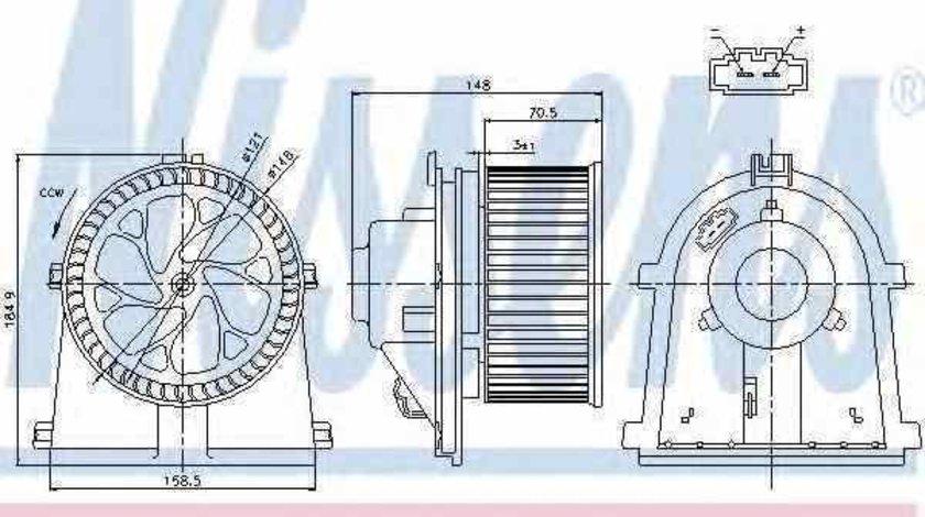 Ventilator aeroterma interior habitaclu VW BORA 1J2 Producator NISSENS 87022