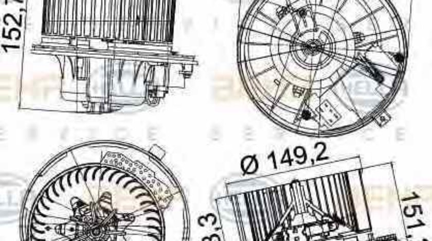Ventilator aeroterma interior habitaclu VW GOLF V Variant 1K5 HELLA 8EW 351 043-221