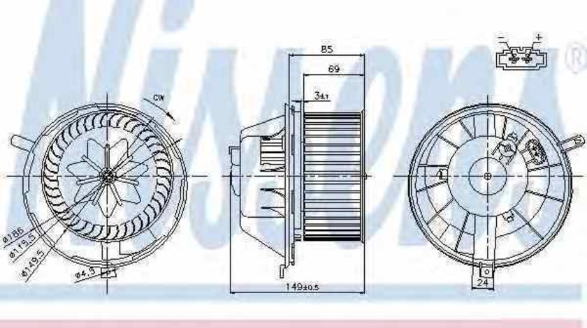 Ventilator aeroterma interior habitaclu VW PASSAT CC 357 Producator NISSENS 87034