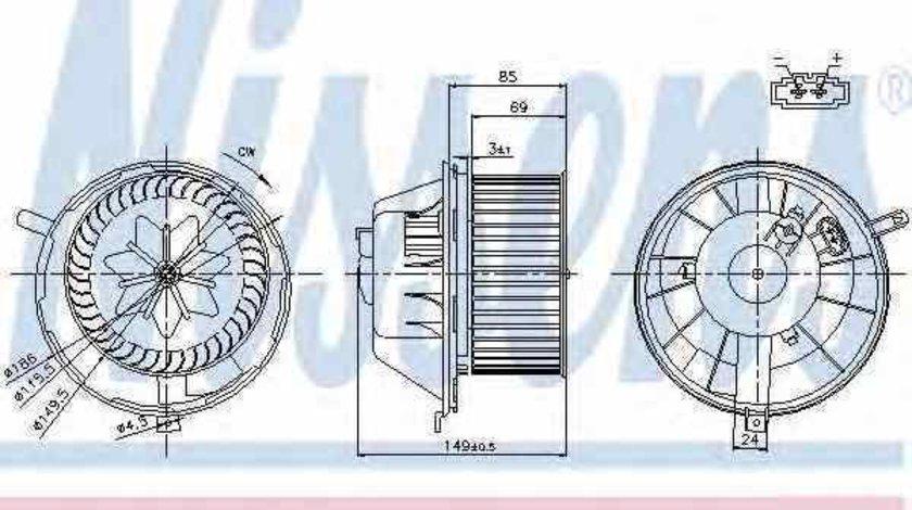 Ventilator aeroterma interior habitaclu VW SHARAN 7N Producator NISSENS 87034