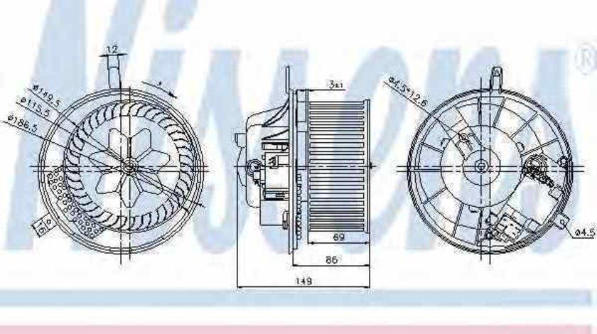 Ventilator aeroterma interior habitaclu VW TIGUAN 5N Producator NISSENS 87032