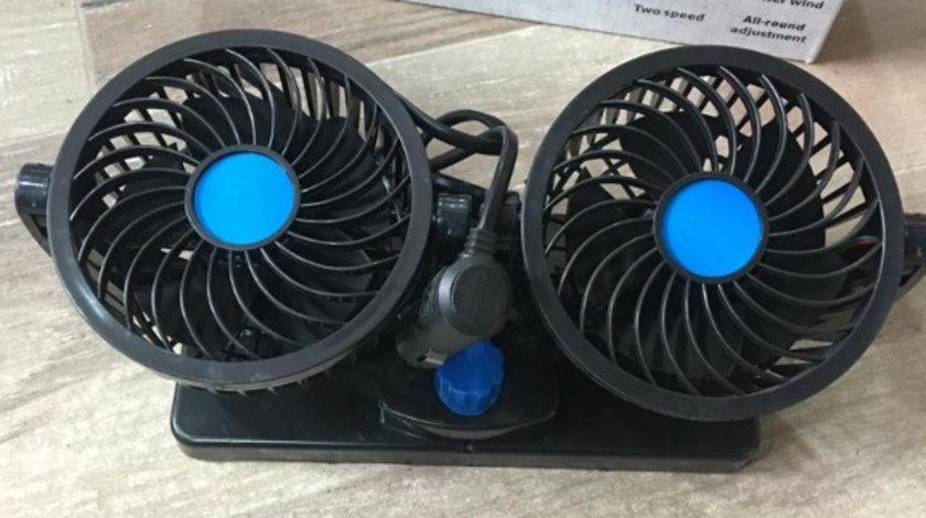 Ventilator auto, dublu 12V, oscilant