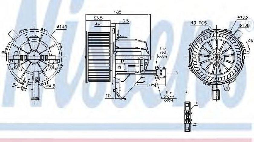 Ventilator, habitaclu AUDI A4 Allroad (8KH, B8) (2009 - 2016) NISSENS 87215 produs NOU