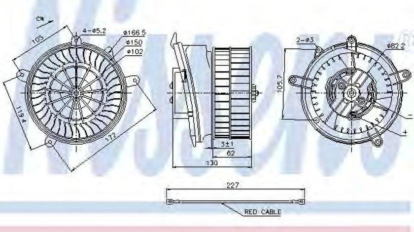 Ventilator, habitaclu MERCEDES C-CLASS (W202) (1993 - 2000) NISSENS 87152 piesa NOUA