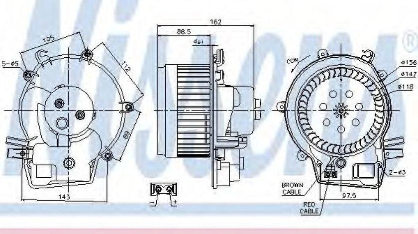 Ventilator, habitaclu MERCEDES C-CLASS (W203) (2000 - 2007) NISSENS 87111 piesa NOUA