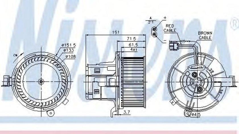 Ventilator, habitaclu MERCEDES C-CLASS (W204) (2007 - 2014) NISSENS 87109 piesa NOUA