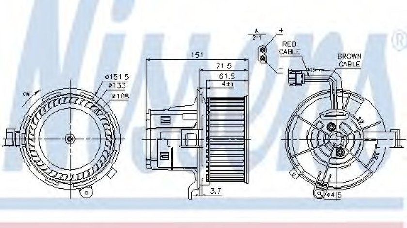 Ventilator, habitaclu MERCEDES E-CLASS Cupe (C207) (2009 - 2016) NISSENS 87109 - produs NOU