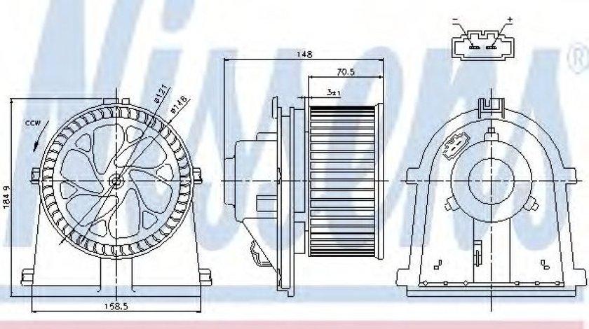 Ventilator, habitaclu VW BORA (1J2) (1998 - 2005) NISSENS 87022 produs NOU