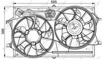 Ventilator racire Ford Focus 2 (2004-2010) [DA_] #...