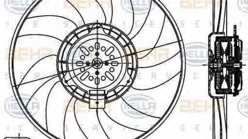 Ventilator radiator AUDI A4 Avant 8K5 B8 HELLA 8EW 351 044-361