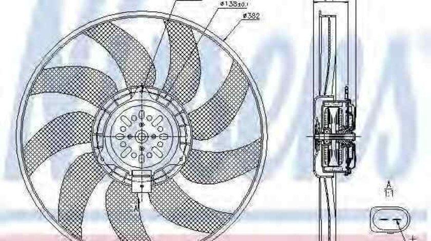 Ventilator, radiator AUDI A5 (8T3) NISSENS 85728