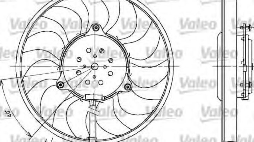Ventilator, radiator AUDI A6 (4B2, C5) (1997 - 2005) VALEO 698611 produs NOU