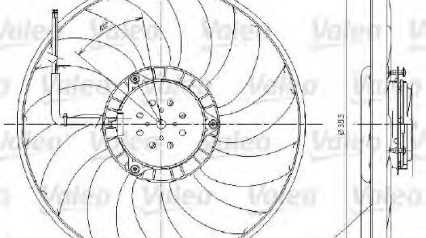 Ventilator, radiator AUDI A6 (4F2, C6) (2004 - 2011) VALEO 696017 produs NOU