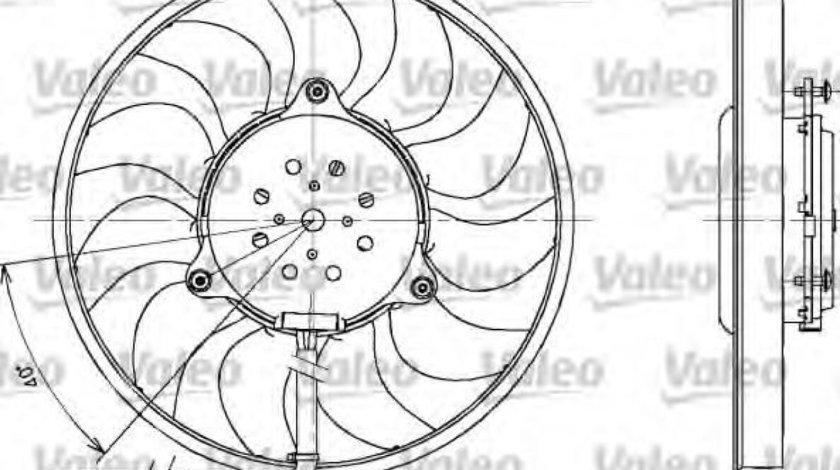 Ventilator, radiator AUDI A6 Avant (4B5, C5) (1997 - 2005) VALEO 698611 produs NOU