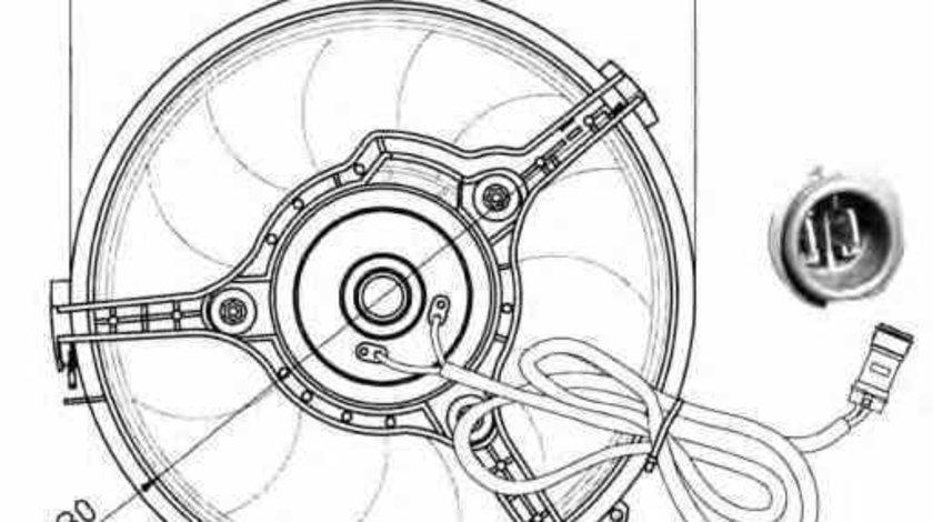 Ventilator radiator AUDI A8 4D2 4D8 NRF 47023