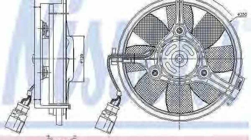 Ventilator radiator AUDI A8 4D2 4D8 Producator NISSENS 85547
