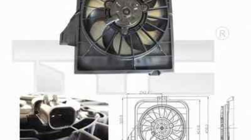 Ventilator radiator CHRYSLER VOYAGER IV RG RS TYC 804-0003
