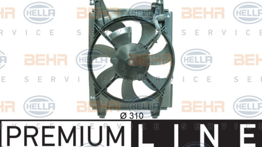 Ventilator radiator (cu carcasa) HYUNDAI COUPE, ELANTRA 1.6-2.7 intre 1999-2009