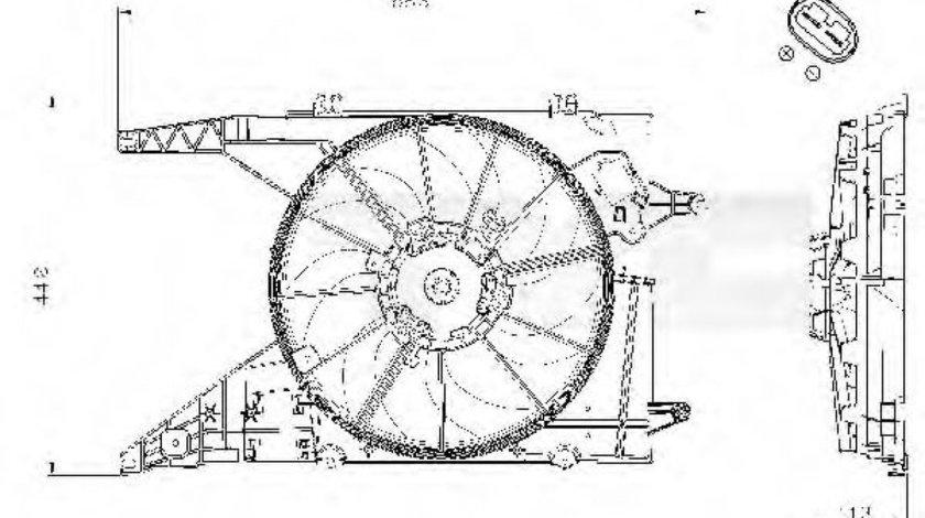 Ventilator, radiator DACIA LOGAN MCV (KS) (2007 - 2016) TYC 828-0002 - produs NOU