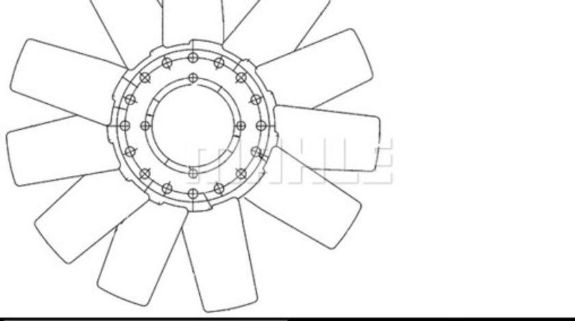 Ventilator radiator (diametru 390 mm, cu 11 palete) FORD TRANSIT, TRANSIT TOURNEO 4HA-4HD intre 1994-2000