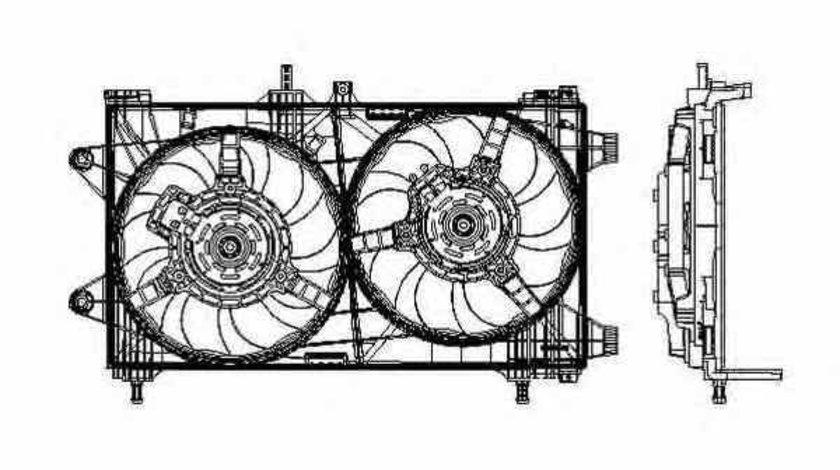Ventilator radiator FIAT PUNTO 188 NRF 47802