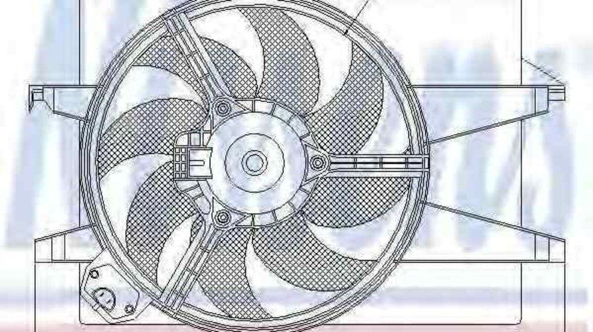 Ventilator, radiator FORD C-MAX (DM2) NISSENS 85220
