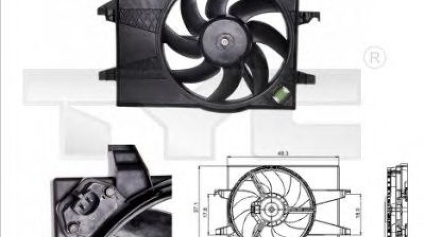 Ventilator, radiator FORD FIESTA V (JH, JD) (2001 - 2010) TYC 810-0025 produs NOU