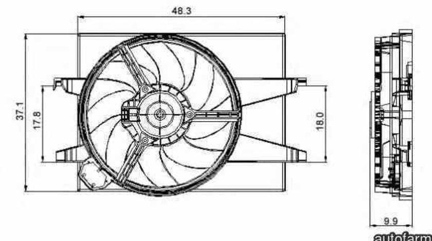 Ventilator radiator FORD FIESTA V JH JD NRF 47006