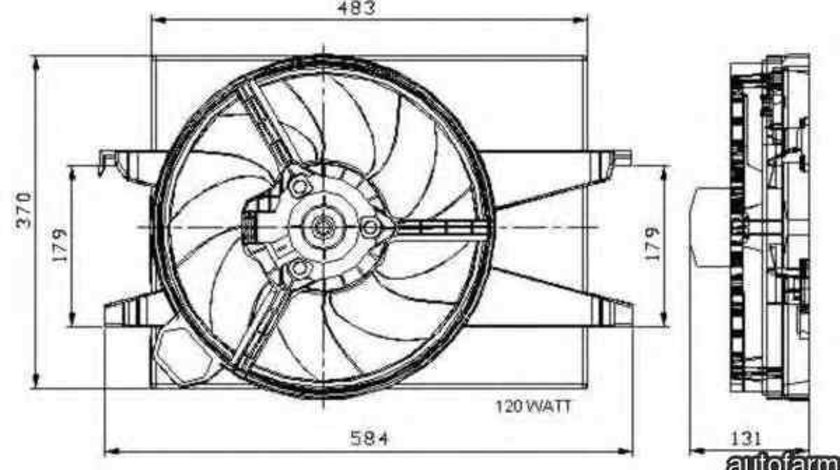 Ventilator, radiator FORD FIESTA V (JH_, JD_) NRF 47007