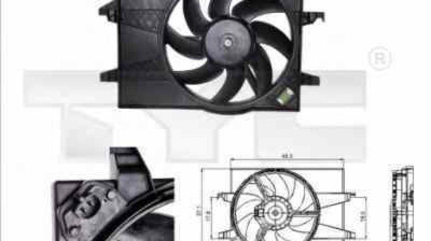 Ventilator radiator FORD FIESTA V JH JD TYC 810-0025