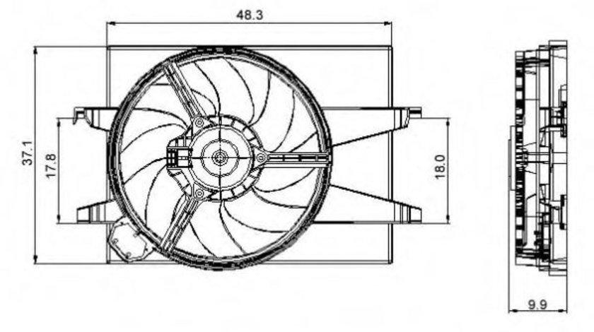 Ventilator, radiator FORD FUSION (JU) (2002 - 2012) NRF 47006 piesa NOUA