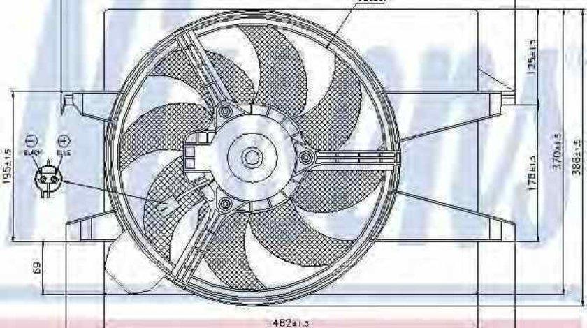 Ventilator radiator FORD FUSION JU NISSENS 85030