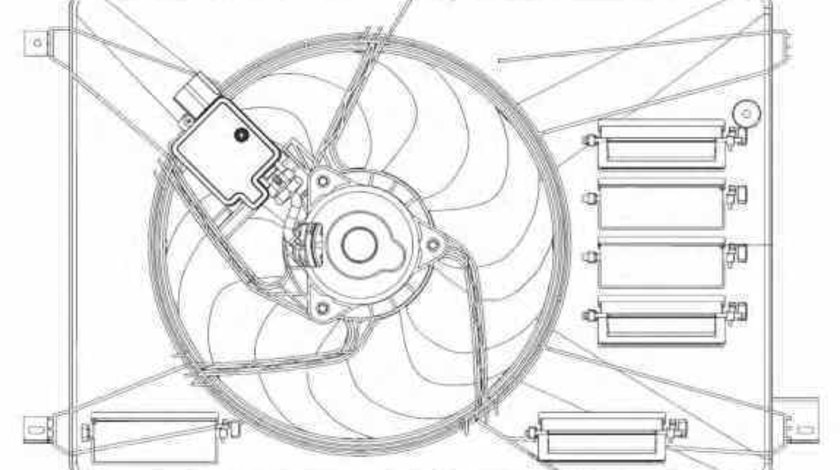 Ventilator radiator FORD MONDEO IV BA7 NRF 47626