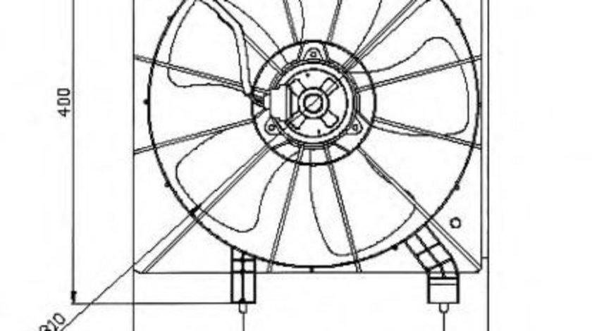 Ventilator, radiator HONDA CIVIC VII Limuzina (ES) (2000 - 2006) NRF 47043 produs NOU