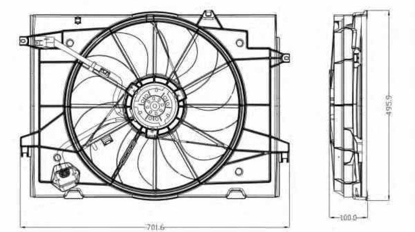 Ventilator radiator HYUNDAI TUCSON JM NRF 47285