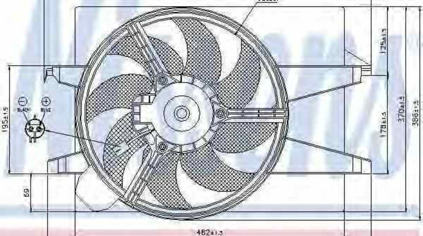 Ventilator radiator MAZDA 2 DY Producator NISSENS 85030